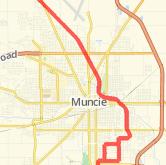 Muncie Bike Trails - Maps of Bike Routes in Muncie, IN