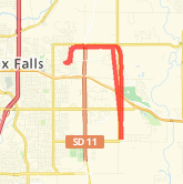 9.80 mile Road Cycling in Sioux Falls on Jul 10, 2012 at 05:13 pm