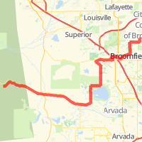 6-18 Ride Route:  Highway 72 alone will kick your ass...
