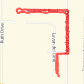 Walked the dog 1.17 mi on Walked the dog 1.17 mi on 04/13/2013