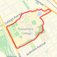 Haverford College Nature Trail In Ardmore Pa United States Mapmyrun