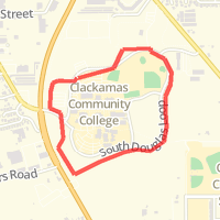 Clackamas Community College Map on