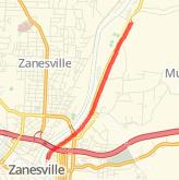 Zanesville Bike Trails - Maps of Bike Routes in Zanesville, OH on