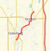 Cedarburg Wisconsin Map.Cedarburg Bike Trails Maps Of Bike Routes In Cedarburg Wi