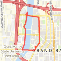 Grand Valley Pew Campus Map.River Walk Fulton To Michigan Back On Monroe In Grand Rapids Mi